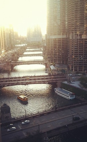 View from my hotel room in Chicago