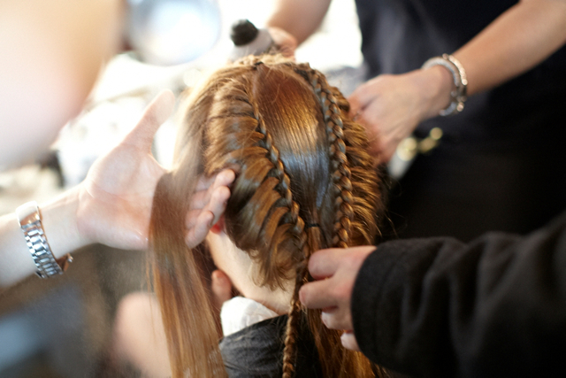 Hair by ghd at Fyodor Gola AW12 at LFW