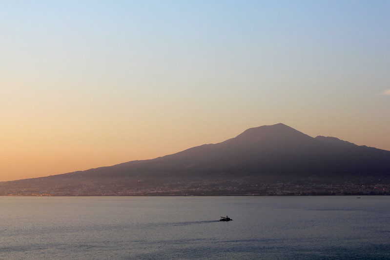 View from L'Accanto overlooking Mt Vesuvius