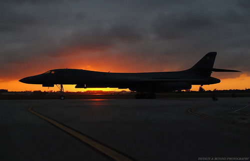 sunset silhouette airplane flickr aircraft explore bone rockwell boeing bomber strategic usaf b1b explored