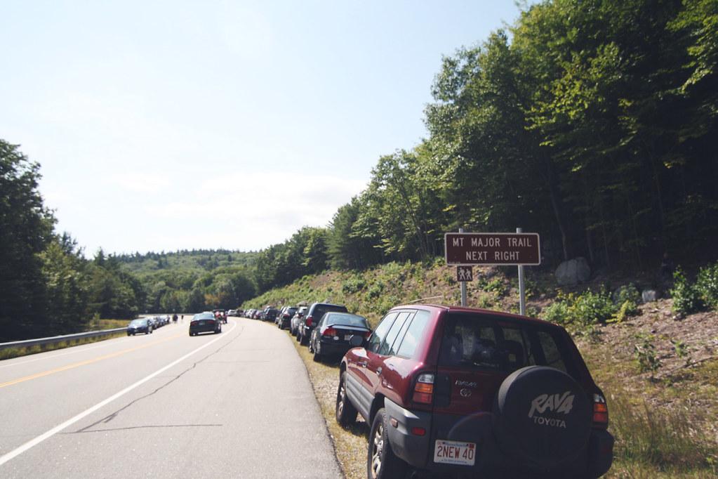mt major trail sign