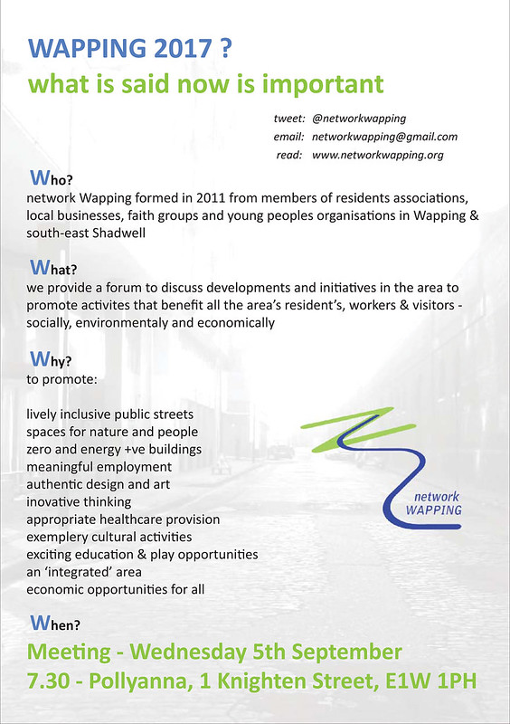 network Wapping 5th September 2012 flyer