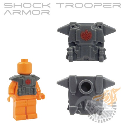Shock Trooper Armor - Dark Blueish Gray (red phoenix emblem)