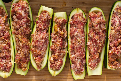Zucchini Boats Ready for the Grill