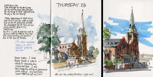 120906 Watercolour vs Marker St Leonards