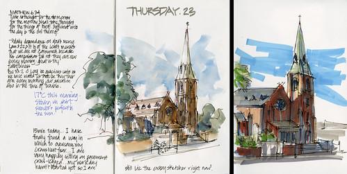 120906 Watercolour vs Marker St Leonards