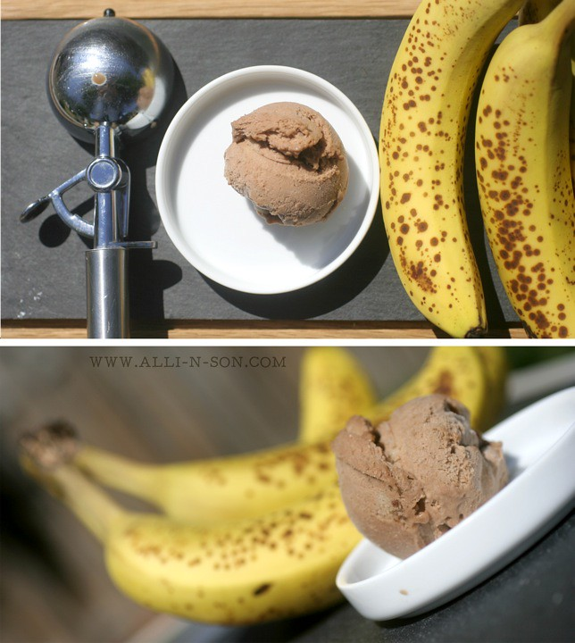 Two Ingredient Banana and Nutella Ice Cream Recipe