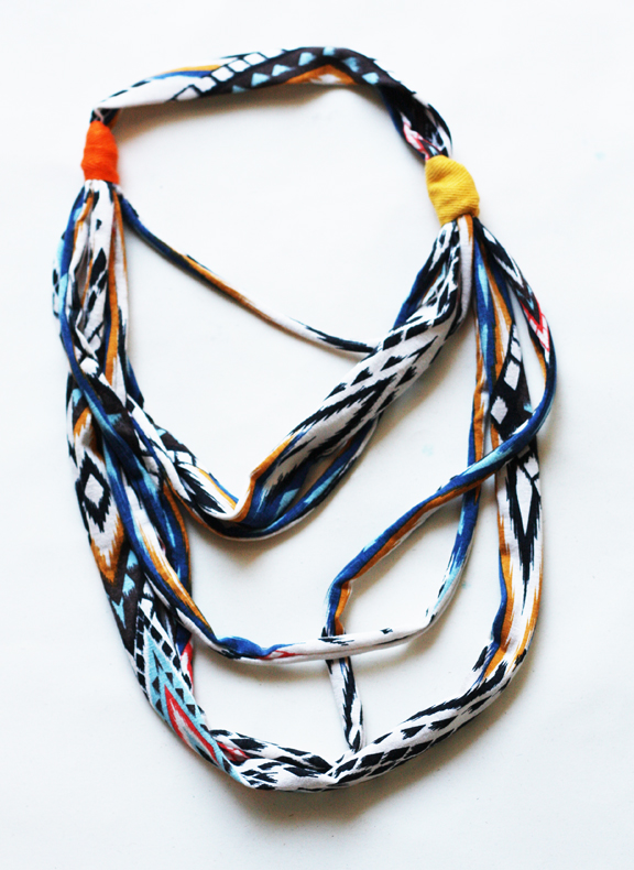 Indian summer fabric necklace