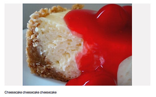 cheesecake photo from Pinterest