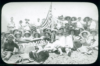 "Class of 1915 at the Pomona ""P"""