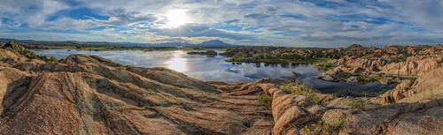 sunset arizona panorama lake reflection clouds photography michael photo photos pics pano az pic boulders granite wilson wildflowers prescott willowlake michaelwilson michaelwilsoncom