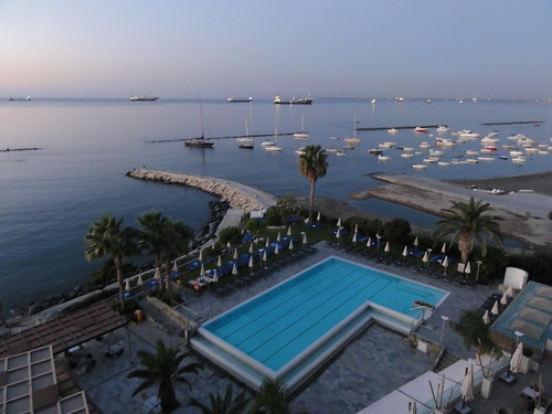 View from my room in the Crowne Plaza Limassol (Cyprus)