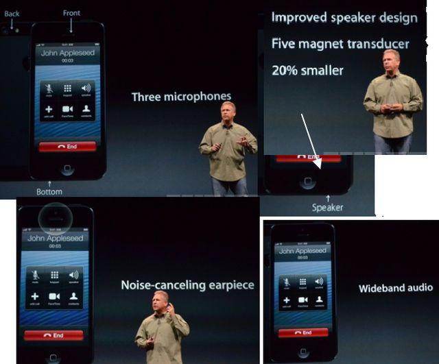 три микрофона iPhone 5