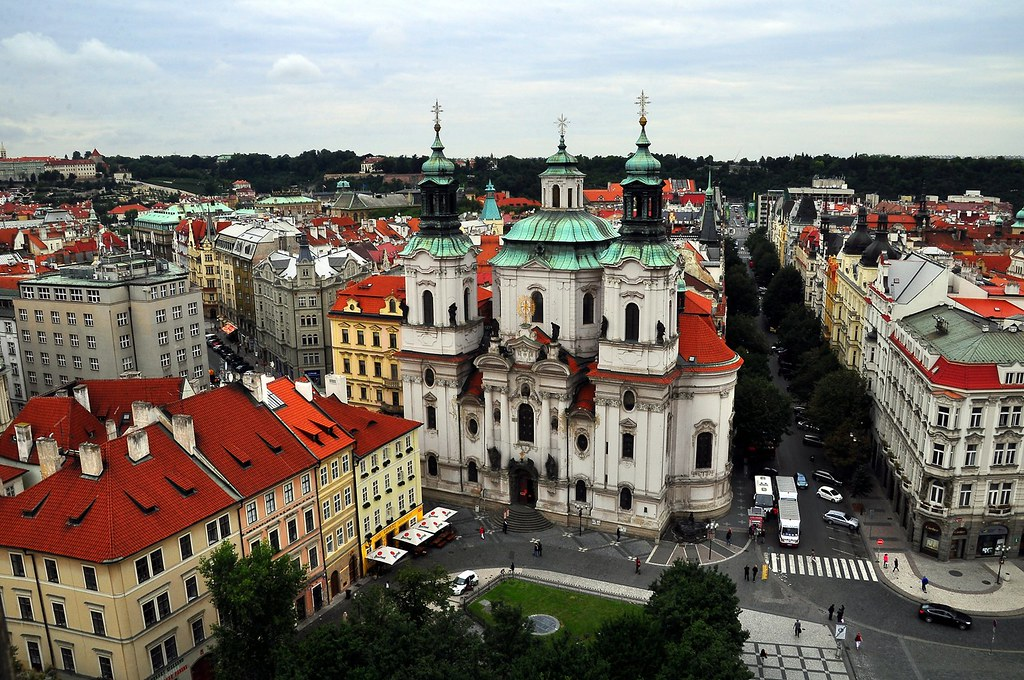 Prague From the Clock Tower --St. Nicolas Church