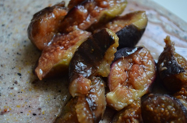 softened cut figs