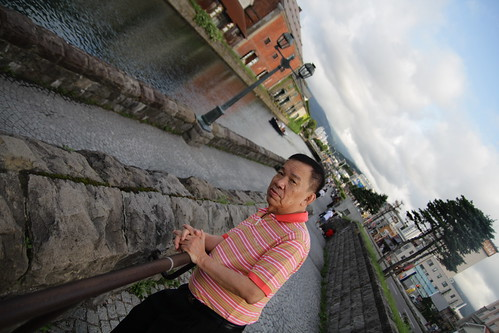 Dad at the Otaru canal