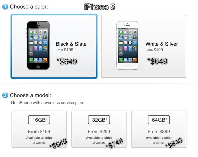 iPhone 5 unlocked price
