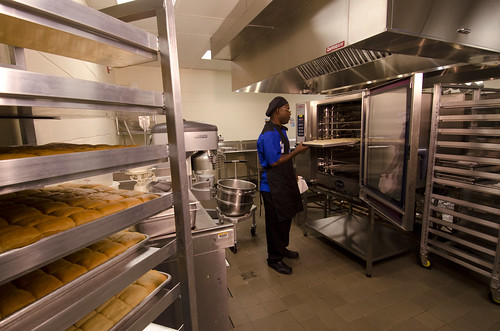 New foodservice equipment makes preparing and serving healthier meals easier and more efficient for hardworking school food service professionals.