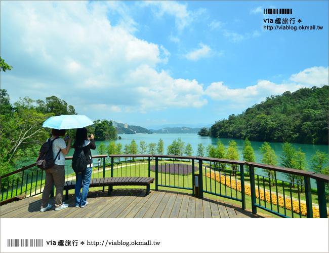 【日月潭景點】全台最美自行車道+超美的水濱婚紗廣場!