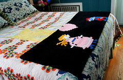 quilt, art, textile, patchwork, furniture, linens, quilting, bed sheet, craft,
