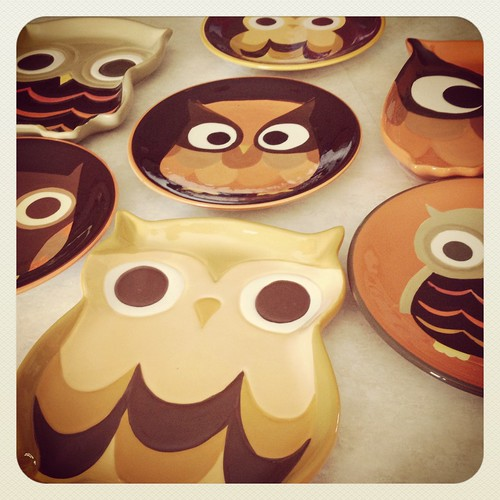 Owl Plates by ceck0face