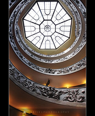 Spiral Stairs of the Vatican, Rome, Italy :: HDR