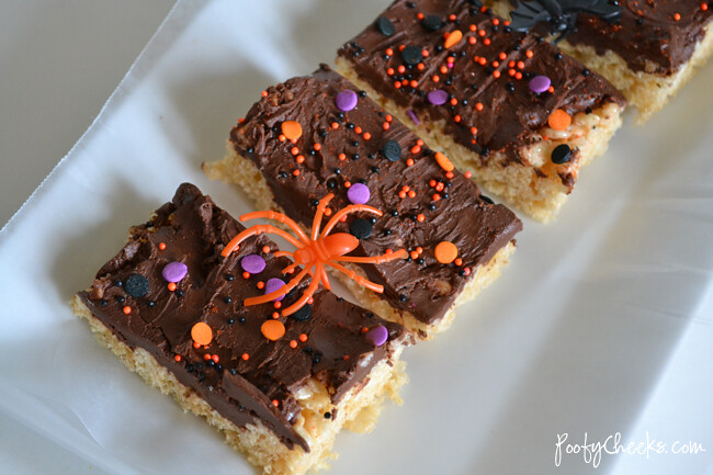 Halloween Nutella Rice Krispie Treats by Poofy Cheeks