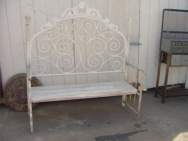 Bench Made With Vintage Iron Headboard 200 Vintage Iron H Flickr Photo Sharing