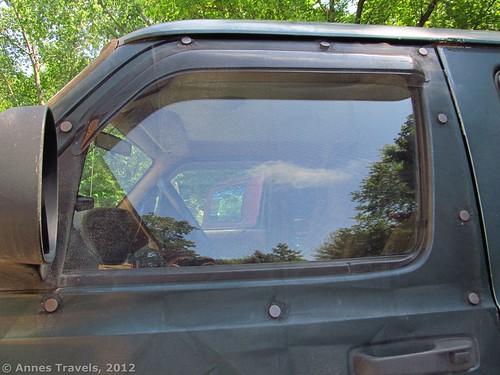 Bug screen on the front van door