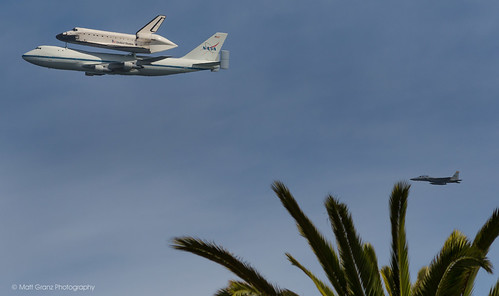 Shuttle over California