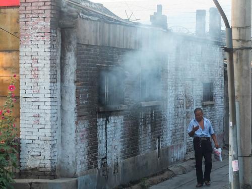 china man sunrise shanxi hollyhock sonnenaufgang datong stockrose x10 mondaymorning montagmorgen rainer❏