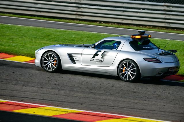 f1 safety car mercedes sls amg flickr photo sharing. Black Bedroom Furniture Sets. Home Design Ideas