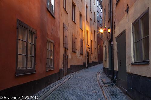 sunrise sweden stockholm cobblestone gamlastan oldtown