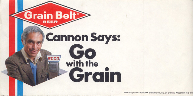 Steve Cannon for Grain Belt beer, 1978