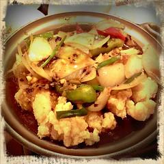 ปลาดอรี่ผัดเต้าซี่ pornstagram#bkkfatty#yummy#dinner#thailand#fish @ Wawa Taiwan Cuisine @ Central Ladphrao