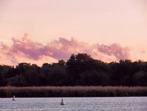 clouds river dusk grandriver