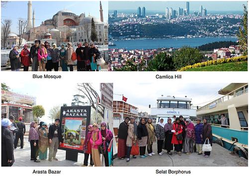 Jamaah umroh plus turki - tour wisata Muslim Blue Mosque Camlica Hill Arasta Bazar Selat Borphorus