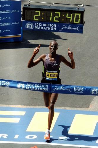 Wesley Korir ganador del maratón de Boston 2012