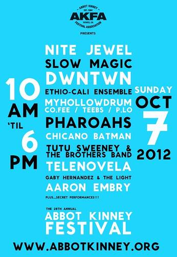 Abbot Kinney Festival Music Lineup 2012