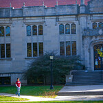 tour-0006 -- Buck Memorial Library, which once served as the University's main library, has been transformed into a high-tech computer center with classrooms, labs and workrooms.