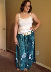 Fishy Dress-to-Skirt Refashion - After