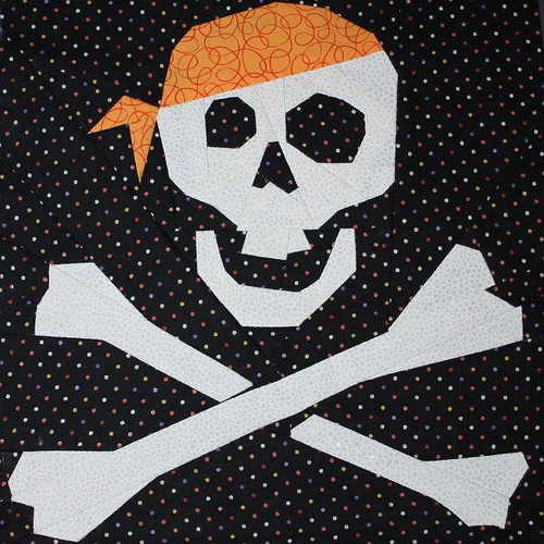 Jolly Roger Paper Piece Block