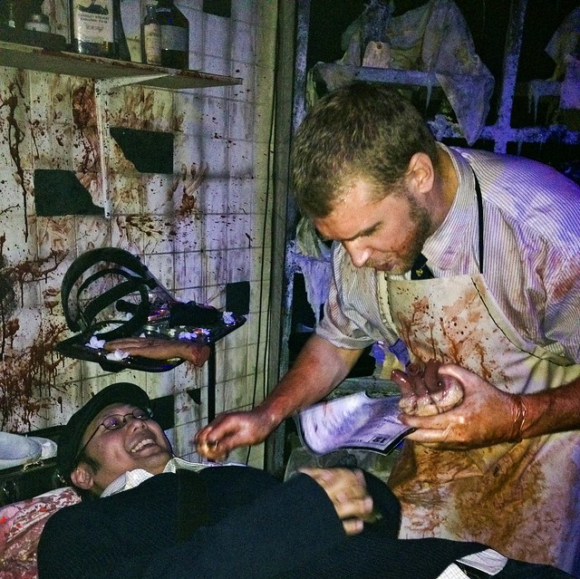 Blood Manor Haunted House 2012 surgeon