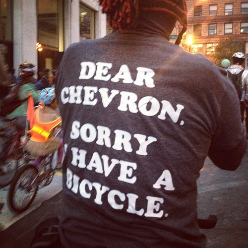 Dear Chevron, sorry I have a bicycle. #sfcm20