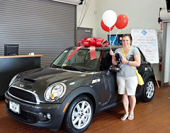 Celeste  Minns Dream of getting a MINI came true and her Husband Just got out of Surgery
