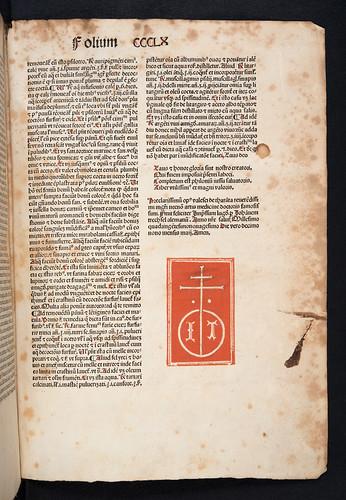Colophon and printer's device in Valascus de Tarenta: Practica, quae alias Philonium dicitur