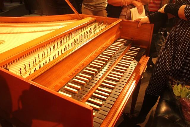 Harpsichord, angle view