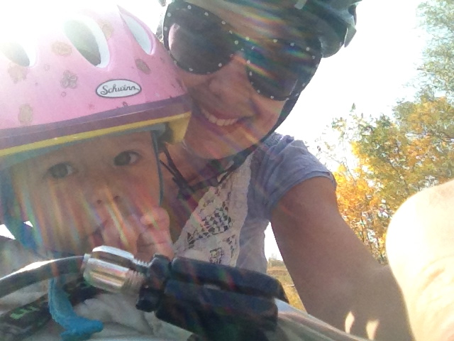 Fall bike ride for mama & baby