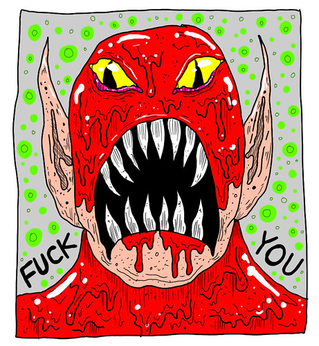 2012-10-02_CANNIBAL FUCKFACE_133AM by Levi Jacob Bailey