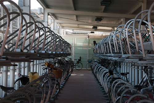 Bike parking at train station Parma